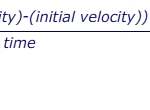 1.06 know and use the relationship between acceleration, change in velocity and time taken